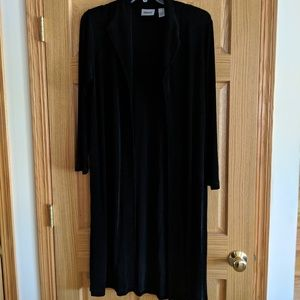 Chico's Travelers Black Duster Size 2 - L/12